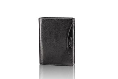 Balticus - portfel ze skóry cielęcej, czarny
