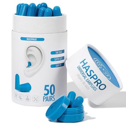 HASPRO TUBE50 – 50 PAR Niebieski - Zatyczki do uszu 50 par
