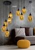 Lampa sufitowa wisząca złota talerz czarny 5x60W Marina Candellux 35-58027