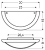 LAMPA SUFITOWA  CANDELLUX GRECKI 11-31108 PLAFON   E27 BRĄZ ALABASTER
