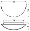 LAMPA ŚCIENNA CANDELLUX WYPRZEDAŻ 11-62222 PLAFON 1/2 1X60W E27 GRECKI BIAŁY / BRĄŻ