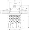 OPRAWA STROPOWA CANDELLUX SK-64 CH/PU MR16 CHROM OPR. STROP. DEKORACYJNA TRANSPARENTNA FIOLET MR16 50W