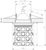 OPRAWA STROPOWA CANDELLUX SK-68 CH/YE MR16 CHROM OPR. STROP. DEKORACYJNA ŻÓŁTA MR16 50W