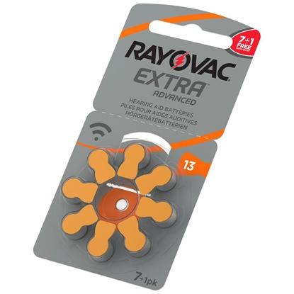 8 x baterie do aparatów słuchowych Rayovac Extra Advanced 13 MF