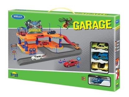 Welly Garaż -1 piętrowy z 4 pojazdami 1:60 (130-00873)