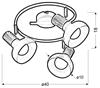 Lampa sufitowa spirala metal biała + drewno 3x40W Puerto Candellux 98-62703