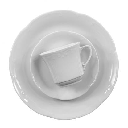 Serwis obiadowo - kawowy 12/110 Kamelia Biała