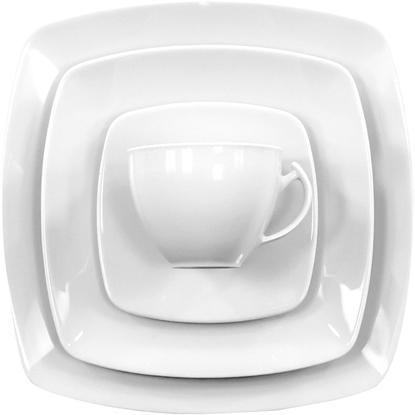 Serwis obiadowo - kawowy 12/95  Akcent Biały