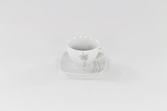 Garnitur do kawy 12/27 Złoty Kwiat E525