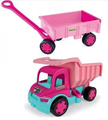 Wader Gigant Truck Wywrotka z Przyczepą dla dziewczynek (65006 + 10958)