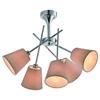 Lampa sufitowa chromowa abażur z tkaniny 5x40W Vox Candellux 35-70630