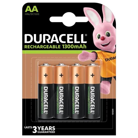 4 x akumulatorki Duracell Recharge R6/AA 1300 mAh (blister)