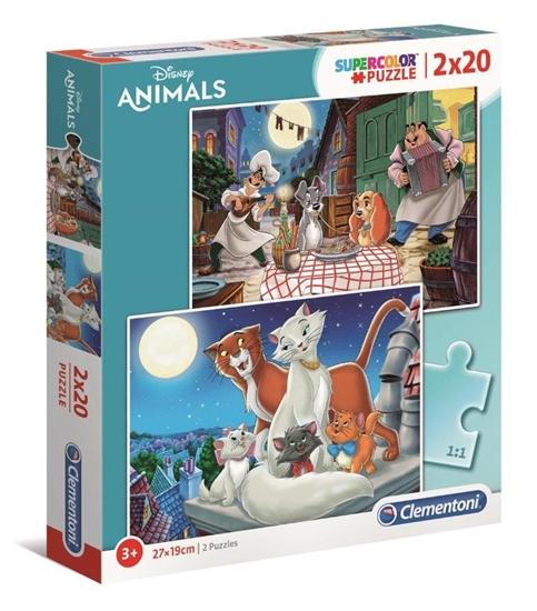 Puzzle 2x20 Super Kolor Disney Animals (24764 CLEMENTONI)
