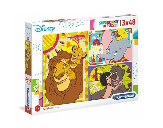 Puzzle 3x48 Super kolor Disney classic (25236 CLEMENTONI)