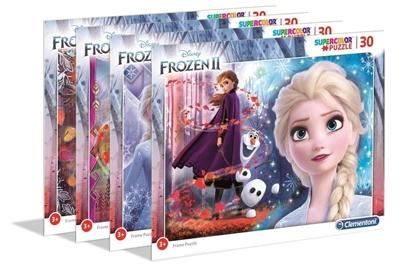 Puzzle ramkowe 30 Super Kolor Frozen 2 (22702 CLEMENTONI)
