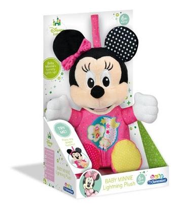 Clementoni Baby Minnie Świecący pluszak w pudełku  p6 17207, cena za 1szt. (17207 CLEMENTONI)