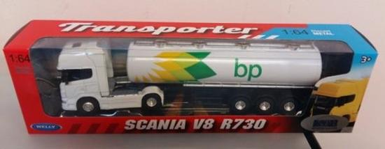 Welly TRUCK 1:64 Scania V8 R730  BP oil (130-58022)