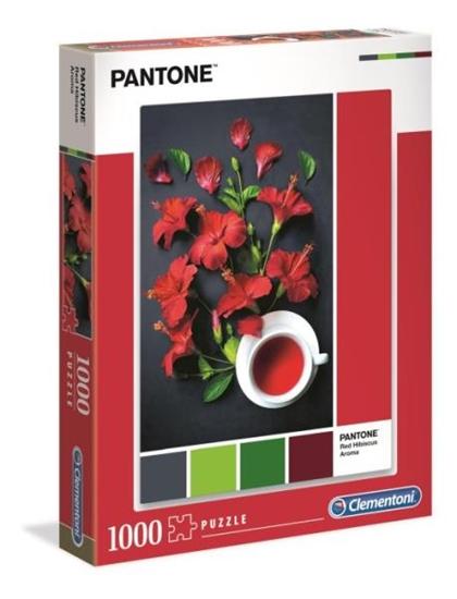 Clementoni Puzzle 1000el PANTONE Czerwony hibiskus 39494 p6 (39494 CLEMENTONI)