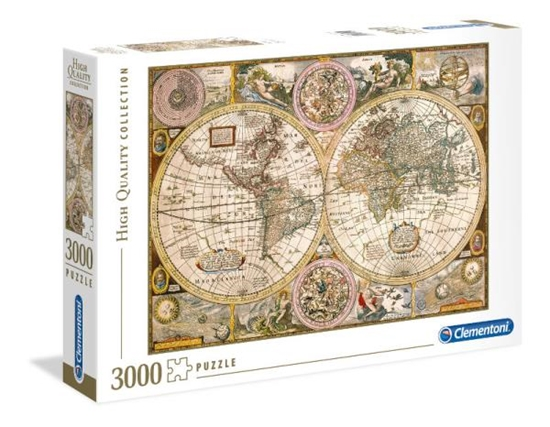 Clementoni Puzzle 3000el Old Map 33531 p6, cena za 1szt. (33531 CLEMENTONI)