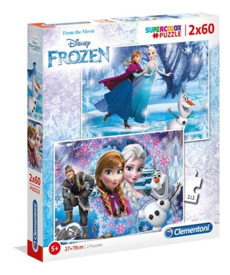 Clementoni Puzzle 2x60el Frozen Kraina Lodu 07119 p6, cena za 1szt. (07119 CLEMENTONI)