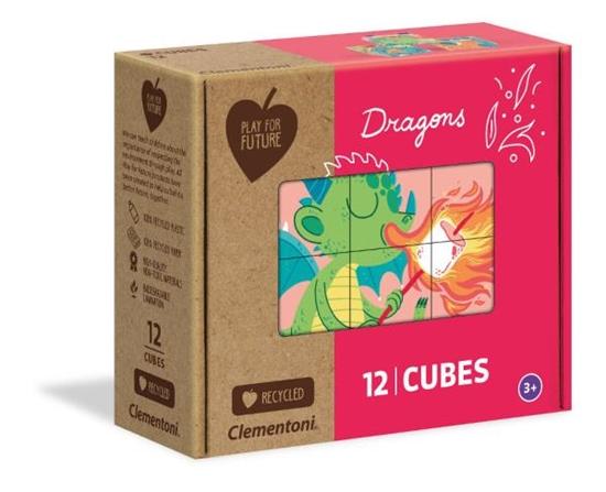 Clementoni Klocki obrazkowe 12 elementów PFF Dragons 45006 (45006 CLEMENTONI)