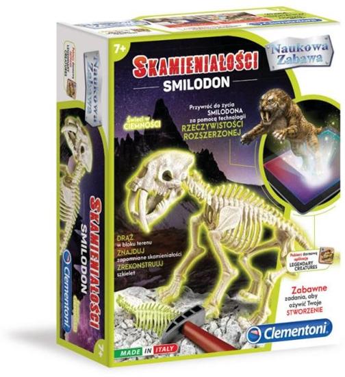 Clementoni Skamieniałości Smilodon 60891  p6, cena za 1szt. (60891 CLEMENTONI)