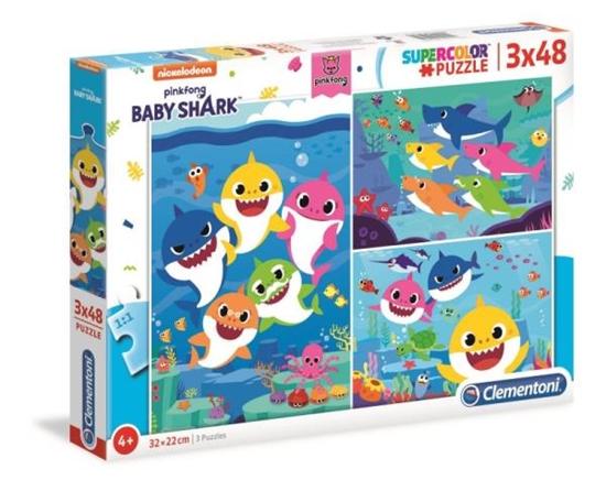 Clementoni Puzzle 3x48el Baby Shark 25261 (25261 CLEMENTONI)