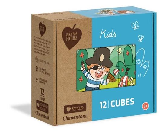 Clementoni Klocki obrazkowe 12 elementów PFF Kids 45005 (45005 CLEMENTONI)