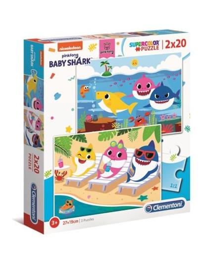 Clementoni Puzzle 2x20el Baby Shark 24777 (24777 CLEMENTONI)