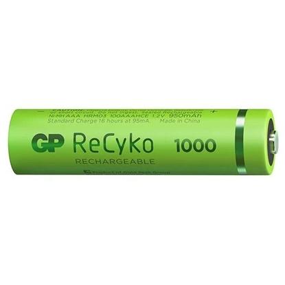 4 x akumulatorki AAA / R03 GP ReCyko 1000 Series Ni-MH 950mAh