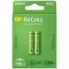 2 x akumulatorki AAA / R03 GP ReCyko 1000 Series Ni-MH 950mAh
