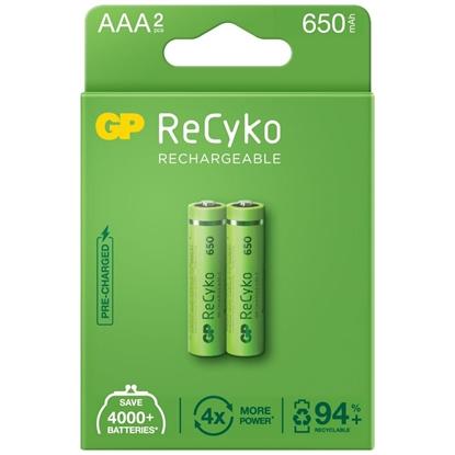 2 x akumulatorki AAA / R03 GP ReCyko 650 Series Ni-MH 650mAh