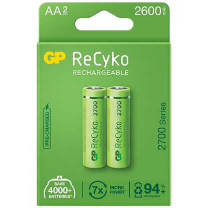 2 x akumulatorki AA / R6 GP ReCyko 2700 Series Ni-MH 2600mAh