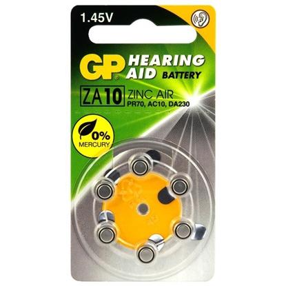 6 x baterie do aparatów słuchowych GP 10 / ZA10 / PR70