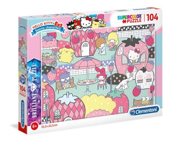 Clementoni Puzzle 104el brilliant Hello Kitty 20172 (20172 CLEMENTONI)