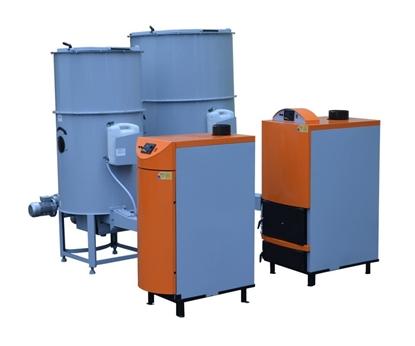 Kocioł co piec z podajnikiem na zrębki, pellet, trociny i biomasę Biowarmer 16-38 kW