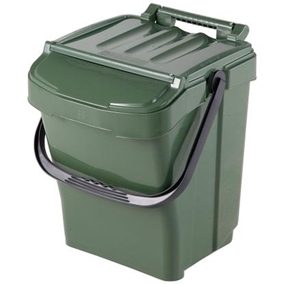 Kosz pojemnik do segregacji sortowania śmieci URBA PLUS 40L - zielony