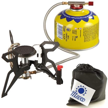 Kuchenka turystyczna z podgrzewaczem gazu i piezozapalnikiem SPIDER PRO 3kW
