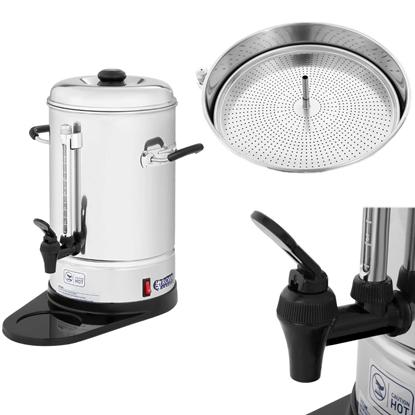 Perkolator zaparzacz do kawy herbaty stalowy nierdzewny 1150W 6L