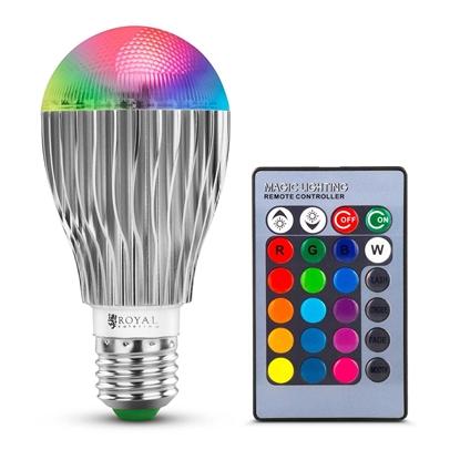 Żarówka LED RGB zmieniająca kolory 16 kolorów 5 trybów 5W + pilot