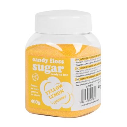 Kolorowy cukier do waty cukrowej żółty o smaku cytrynowym 400g