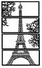 Dekoracja ścienna - Wieża Eiffla