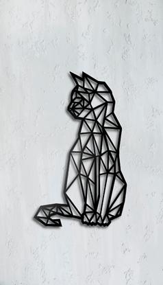Dekoracja Ścienna - Kot geometryczny