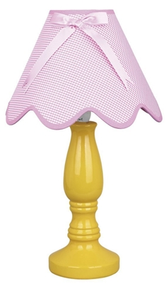 Lampka stołowa nocna ceramiczna żółto-różowa 60W E27 Lola Candellux 41-84354