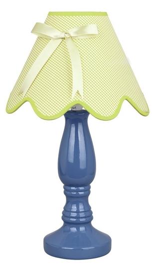 Lampka stołowa nocna ceramiczna niebiesko-pistacjowa 60W E27 Lola Candellux 41-84361