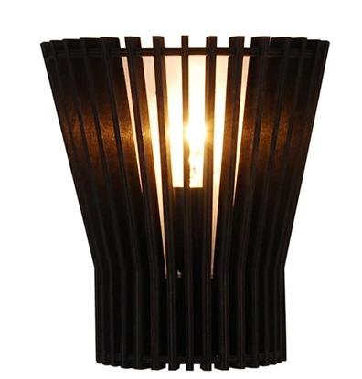 Kinkiet czarny drewniany ażurowy E14 Osaka Ledea 50401030