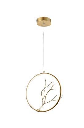 Lampa Wisząca Davos LEDEA 50133053 LED 16W Metal Złoty