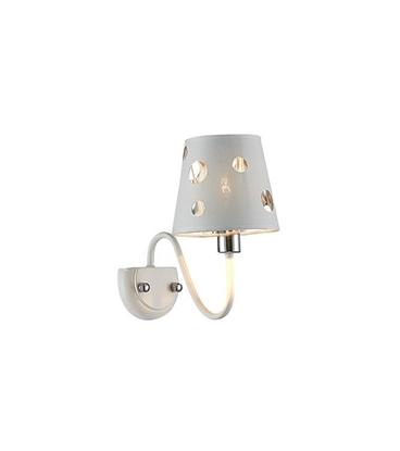 Kinkiet Batley LEDEA 50401112 E14 60W Metal, tkanina Biały