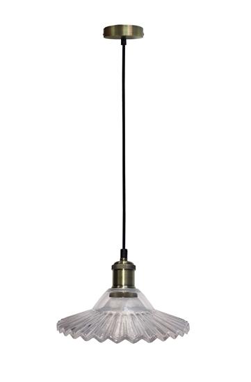 Lampa Wisząca Geneva LEDEA 50101273 E27 40W Szkło Przeźroczyste Szkło/Antyczne Złoto