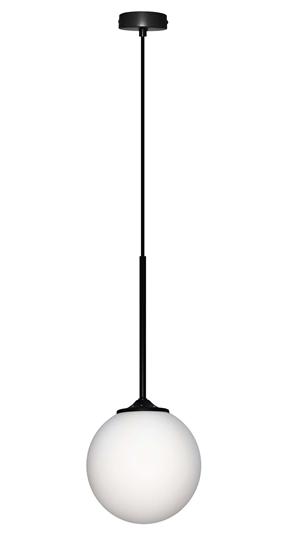 LAMPA WISZACA GLASGOW II LEDEA 50101283 E27 40W METAL, SZKŁO CZARNY